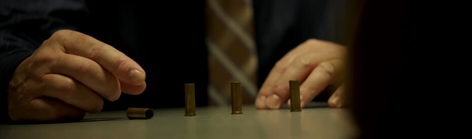 Picture of bullets falling during Canal Street interrogation.
